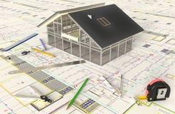 haus plan und architekturzeichnungen stockbild bild von