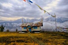 Haus in Arunachal Pradesh Lizenzfreies Stockbild