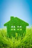 Haus auf dem grünen Gras Stockfotografie