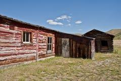 Haus auf dem Grasland Stockfoto