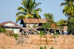 Haus auf dem Strand, digitales Fotobild als Hintergrund lizenzfreie stockbilder