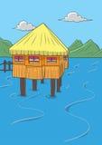 Haus auf dem Wasser Stockfoto