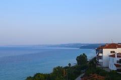 Haus auf der Küste Stockfotos