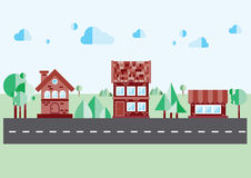 Haus auf einem blauen Hintergrund Lizenzfreie Stockfotos