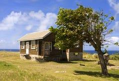 Haus auf einem Gebiet Lizenzfreies Stockbild