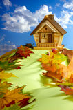 Haus auf einem Hügel Lizenzfreie Stockfotografie