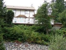 Haus auf einem Hügel Stockbild