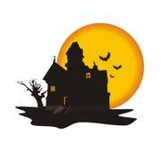 Haus auf einem Halloween Stockbilder