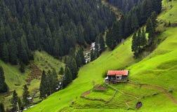 Haus auf einem Tal lizenzfreie stockfotografie