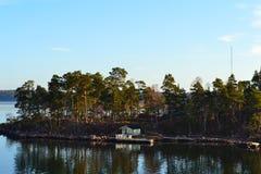 Haus auf Insel Lizenzfreie Stockfotos
