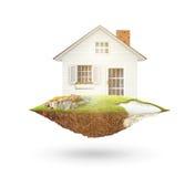Haus auf Natur Lizenzfreie Stockfotografie