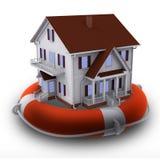 Haus auf Rettungsring Lizenzfreie Stockfotos