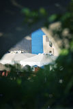 Haus auf Rhodos-Inselstrand Stockfotos
