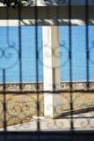 Haus auf Rhodos-Inselstrand Lizenzfreie Stockfotos