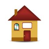 Haus auf Weiß Lizenzfreie Stockfotos