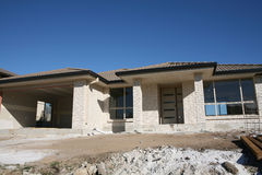 Haus-Aufbau stockbild