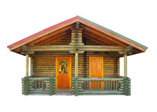 Haus aufgebaut von den Protokollen stockbild