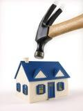 Haus ausgeschlossen unter Hammer Lizenzfreie Stockfotos