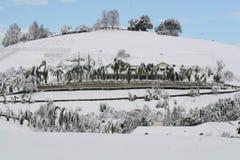 Haus bedeckt im Schnee Lizenzfreie Stockfotografie