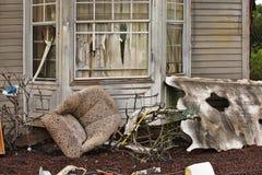 Haus beschädigte durch Unfall Stockfotografie