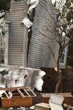 Haus beschädigte durch Unfall Stockfoto