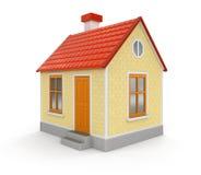 Haus (Beschneidungspfad eingeschlossen) Lizenzfreie Stockfotos