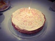 Haus bildete Geburtstagkuchen Lizenzfreies Stockbild