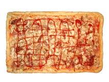 Haus bildete Pizza Lizenzfreies Stockfoto