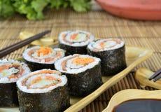 Haus bildete Sushi Lizenzfreie Stockbilder