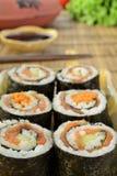 Haus bildete Sushi Lizenzfreie Stockfotos