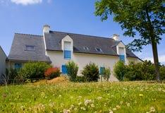 Haus in Bretagne stockbilder