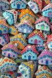 Haus, bunt, einzigartig, Weihnachten Honey Cookies Lizenzfreies Stockbild