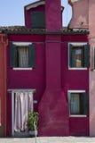 Haus in Burano Stockfoto