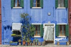 Haus in Burano Lizenzfreie Stockbilder