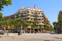 Haus-Casa Mila, Barcelona, Spanien. Stockfoto