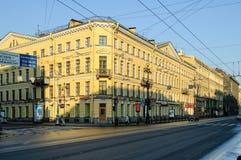 Haus Chaplinykh auf Nevsky-Allee St Petersburg Stockbild