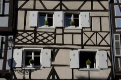 Haus in Colmar lizenzfreie stockbilder