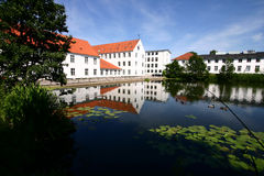 Haus in Dänemark stockbild