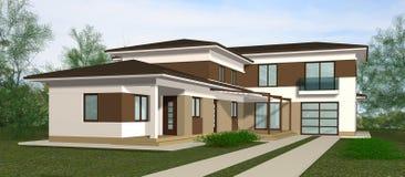 Haus 3D übertragen Darstellung lizenzfreie abbildung