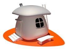 Haus, 3D Lizenzfreies Stockbild