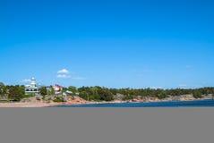 Haus in dem Meer Stockfotografie