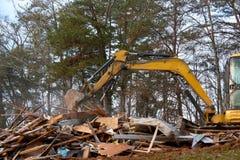 Haus-Demolierung Stockfotos
