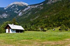 Haus in den Alpen Stockbilder