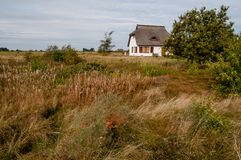 House in the dunes royalty free stock photography