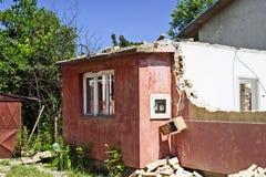 Haus in den Ruinen Lizenzfreie Stockfotos