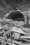 Haus in den Ruinen Lizenzfreie Stockfotografie