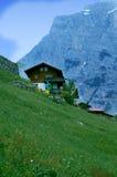 Haus in den Schweizer Alpen Lizenzfreie Stockfotografie