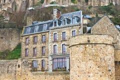 Haus in der Abtei von Mont Saint Michel Stockfotografie