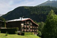Haus in der alpinen Art, Frankreich Stockbild