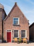 Haus in der alten Stadt der verstärkten Stadt Woudrichem, die Niederlande Lizenzfreie Stockbilder